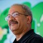 Rep. Chaka Fattah, D-Pa., attends a news conference Friday, Sept. 5, 2014, in Philadelphia. (AP Photo/Matt Rourke)