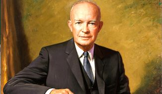 The official White House portrait of Dwight Eisenhower, 34th president
