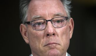 Jim Steinle, father of Kathryn Steinle, killed on a San Francisco pier, allegedly by a man previously deported several times, listens to opening statements before testifying before a Senate Judiciary hearing to examine the Administration's immigration enforcement policies, in Washington, Tuesday, July 21, 2015. (AP Photo/Molly Riley)