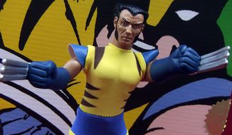 Retro Wolverine Limited Edition Boxed Set features our feral hero in a classic Mego-style yellow costume. (Photograph by Joseph Szadkowski / The Washington Times)