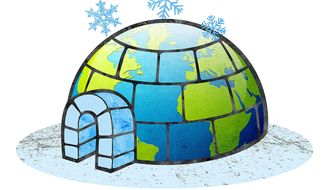 Earth Igloo Illustration by Greg Groesch/The Washington Times