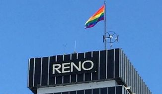The City of Reno is apologizing after an American flag that flies atop City Hall downtown was briefly replaced with the LGBT rainbow flag following a gay pride celebration over the weekend. (KTVN)