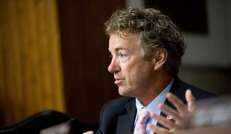 Republican presidential candidate, Sen. Rand Paul, R-Ky., speaks on Capitol Hill in Washington in this July 23, 2015, file photo. (AP Photo/Andrew Harnik)