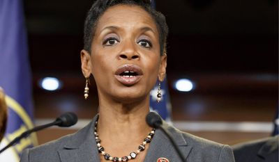 Rep. Donna Edwards, Maryland Democrat, said the bill passed by the House Wednesday would punish federal employees, and amounts to union-busing.