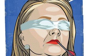 Illustration on Obama's designs to undermine Hillary Clinton's candidacy by Linas Garsys/The Washington Times