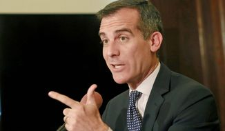 Los Angeles Mayor Eric Garcetti declared his intent to sign a measure passed by the city council giving Angelenos 60 days to turn in or dispose of ammunition magazines exceeding 10 rounds, even if bought before an assault weapons ban was in place. (Associated Press)