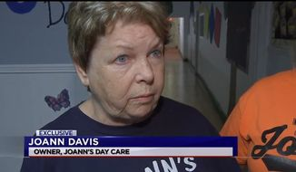 Joann's Day Care owner, Joann Davis, is apologizing after a 10-month-old boy was accidentally locked inside the day care and left alone after closing time, forcing his terrified parents to break a window to rescue him. (KTRK)