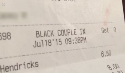 "A waitress at Patrick's Westport Grill in Maryland Heights, Missouri, who described two of her customers as ""black couple"" on a restaurant receipt, is now reportedly out of a job. (KTVI)"