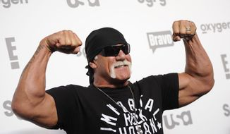 Hulk Hogan attends the NBCUniversal Cable Entertainment 2015 Upfront at The Jacob Javits Center in New York, in this May 14, 2015, file photo. (Photo by Evan Agostini/Invision/AP, File)
