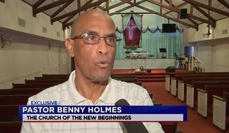 Pastor Benny Holmes of the Church of New Beginning in Baytown, Texas shot a suspected robber who broke in early Tuesday morning. The pastor then led the man through the sinner's prayer. (Image: ABC 13 News Texas screenshot) ** FILE **