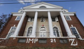The Phi Kappa Psi house at the University of Virginia in Charlottesville, Va. (AP Photo/Steve Helber, File)