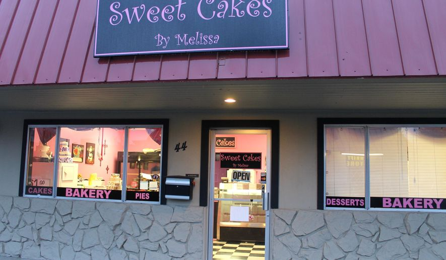 This Feb. 5, 2013, photo shows Sweet Cakes by Melissa in Gresham, Ore. An administrative law judge in April 2015 proposed that the owners of the suburban Portland bakery pay $135,000 to a lesbian couple who were refused service more than two years ago. (Everton Bailey Jr./The Oregonian via AP/ File)