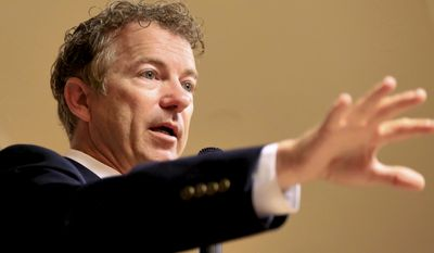 """""""A lot of people, even a lot of pro-choice people, are upset by these videos,"""" Sen. Rand Paul, Kentucky Republican, said Sunday on CNN's """"State of the Union."""" """"I think most Americans don't want their tax dollars going to this. So I think when something is so morally repugnant to so many people, why should tax dollars go to this?"""" (Associated Press)"""