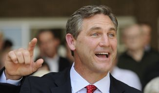 In this May 24, 2012 photo, Texas Republican primary candidate for the U.S. Senate Craig James makes a point during a press conference in Houston. Also vying for the party's nomination are Lt. Gov. David Dewhurst, ex-Dallas Mayor Tom Leppert and Ted Cruz. (AP Photo/Pat Sullivan/File)