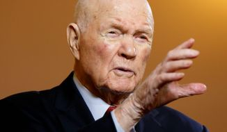 "Astronaut and former Sen. John Glenn says that inspectors general require ""unfettered access"" to investigate the agencies they are supposed to monitor rather than getting permission from agencies to do so. (Associated Press)"