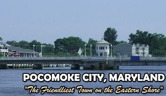 Pocomoke City, Md. (Screen grab from http://www.cityofpocomokemd.gov/index.html)