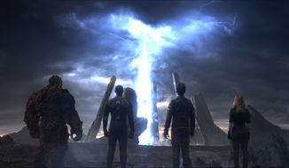 "A scene from ""Fantastic Four."" (Twentieth Century Fox via AP)"