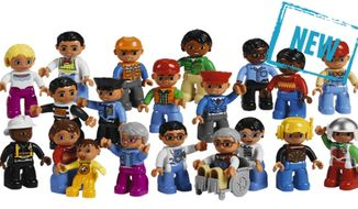"Lego's diverse ""Community People Set"" has sparked the ire of disability activists who believe the figurine depicting an elderly man in a wheelchair presents children with a negative stereotype of disability. (Lego)"