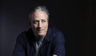"In this Nov. 7, 2014, file photo, Jon Stewart poses for a portrait in promotion of his film, ""Rosewater,"" in New York. Stewart says goodbye on Thursday, Aug. 6, 2015, after 16 years on Comedy Central's ""The Daily Show"" that established him as America's foremost satirist of politicians and the media. (Photo by Victoria Will/Invision/AP, File)"