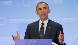 """President Obama prefers the phrase """"countering violent extremism"""" to """"Islamist terrorism."""" (Associated Press/FIle)"""