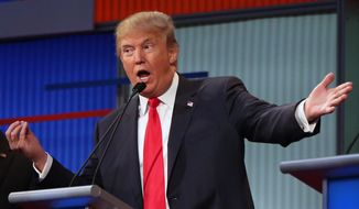 Donald Trump, the billionaire businessman who stormed the presidential race, delivered lectures to the rest of his competitors, to the Fox News debate moderators, and to critics at large, defending his candor and saying the problem with politicians is weighing their words too much. (Associated Press)