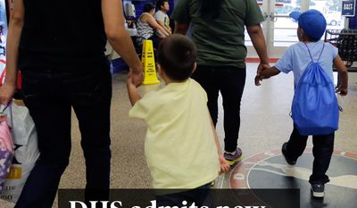 National Edition News cover for August 8, 2015 - DHS admits new surge of illegal immigrant families: Immigrants from El Salvador who entered the country illegally walk through a bus after they were released from a family detention center, Tuesday, July 7, 2015, in San Antonio. Women and children are being released from immigrant detention centers faster on bond, with many mothers assigned ankle monitoring bracelets in lieu of paying. (AP Photo/Eric Gay)