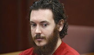 This June 4, 2013, file photo shows Aurora theater shooting suspect James Holmes in court in Centennial, Colo. (Andy Cross/The Denver Post via AP, Pool, File)