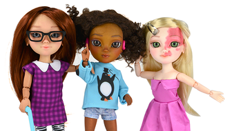 "Create-your-own dolls at mymakie.com permit people to make dolls that are similar looking or have similar ""disabilities"" as the child. (Image courtesy of mymakie.com/blog)"