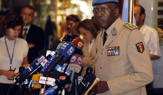 FILE - In an Aug. 2012 file photo, General Babacar Gaye, head of the United Nations Supervision Mission in Syria (UNSMIS), gives a news conference in Damascus, Syria. Gaye, the head of the U.N. peacekeeping mission in the Central African Republic, resigned Wednesday, Aug. 12, 2015, at the request of U.N. Secretary-General Ban Ki-moon, over the force's handling of a series of sexual and other misconduct allegations. Ban Ki-moon has called a special session of the U.N. Security Council for Thursday over the issue of sexual abuse allegations that has rocked the world body. (AP Photo/Salman Muzaffar, File)