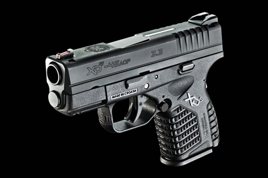 The .45 Springfield XD-S measures only 6.3 inches in length, 4.4 inches in height and 1 inch in overall width.
