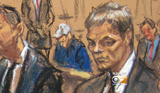"A New York City courtroom sketch artist is apologizing after being widely mocked on the Internet for drawing what appeared to be a partially deflated Tom Brady during his Wednesday ""Deflategate"" hearings. (Jane Rosenberg via CBS2)"