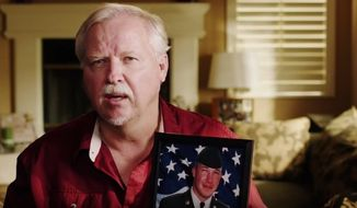 Patrick Farr, father of U.S. Army Specialist Clay Farr who was killed by an Iranian bomb, speaks out against the nuclear deal with Iran in a new ad sponsored by Veterans Against the Deal. (image: screen grab from Youtube)