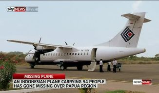 An Indonesian plan has reportedly crashed with 54 people onboard. Screencap: SkyNews