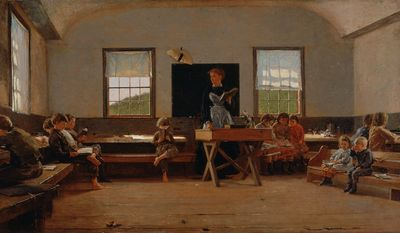 "Winslow Homer's painting, ""The Country School""--located in the St. Louis Art Museum. Image in public domain, via wikimedia: https://upload.wikimedia.org/wikipedia/commons/b/b9/Winslow_Homer_-_The_Country_School.jpg"