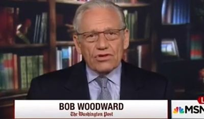 "Veteran Washington Post reporter Bob Woodward said Monday that the controversy swirling over Hillary Rodham Clinton's private email server ""reminds"" him of the Watergate scandal. (MSNBC)"