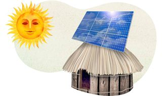 Solar Straw Hut Illustration by Greg Groesch/The Washington Times