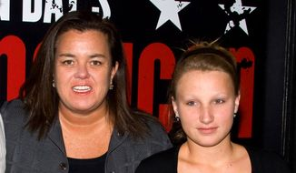 "In this April 20, 2010, file photo, Rosie O'Donnell, left, poses with her daughter Chelsea at the opening night performance of the Broadway musical ""American Idiot"" in New York. (AP Photo/Charles Sykes, File)"