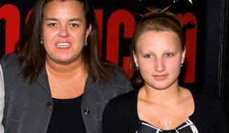 "In this April 20, 2010 file photo, Rosie O'Donnell, left, poses with her daughter Chelsea at the opening night performance of the Broadway musical ""American Idiot"" in New York. In 2015, Chelsea, 17, was reported missing for a week. She was found by police safe in a New Jersey home on Tuesday, Aug. 18, 2015. Chelsea O'Donnell had left the family's home a week earlier with a therapy dog, and her mother's concern was intensified because she had not been taking needed medication. Chelsea suffers from mental illness, according to her mother's spokeswoman. (AP Photo/Charles Sykes/File)"