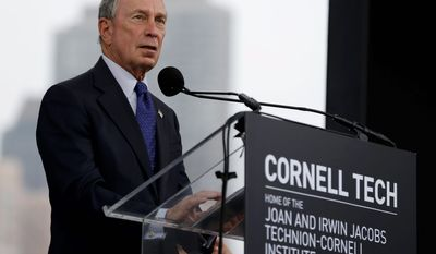 One analyst suggests former Manhattan mayor Michael Bloomberg could be the mystery candidate to save the Democratic Party in 2016. (associated press)