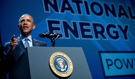 President Obama is promoting a platform of executive actions and private sector commitments to accelerate America's transition to cleaner sources of energy. Republicans, however, say his plan will ultimately bring Americans higher power costs. (Associated Press)