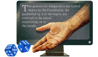 Internet Gambling and States' Rights Illustration by Greg Groesch/The Washington Times