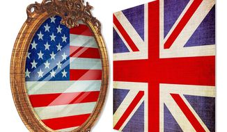 Britain and America Political Reflection Illustration by Greg Groesch/The Washington Times