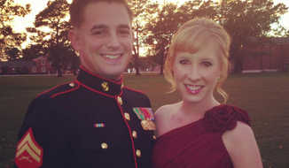 Alison Parker with a friend before a Marine Corps ball.