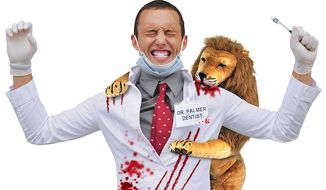 "PETA has responded to outrage over Cecil the Lion Halloween costumes with its own ""Cecil's Revenge"" costume that features a bloodied dentist. (www.petacatalog.com)"