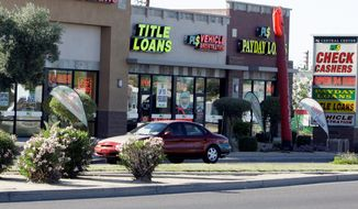 Payday loan companies would suffer an 82 percent drop in revenue as a result of proposed Consumer Financial Protection Bureau rules, according to an analysis. (Associated Press)