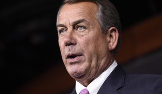U.S. District Judge Rosemary M. Collyer, presiding in Washington, said Speaker John A. Boehner can pursue claims the administration injured Congress as an institution when it continued to dole out cost-sharing payments under the Affordable Care Act even though lawmakers had not approved them. (Associated Press)