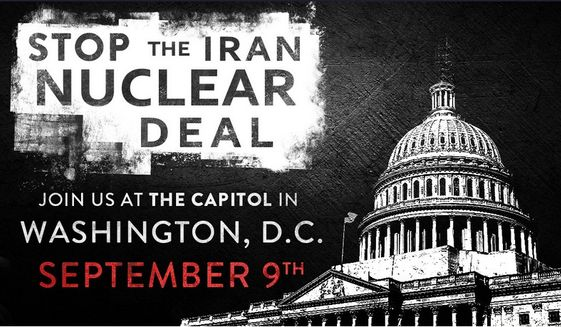 Trump and tea party rally against Iran nuclear deal at the U.S. Capitol still on, growing in scope