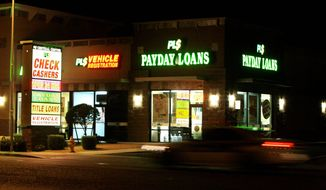 """Rules proposed by the Consumer Financial Protection Bureau could lead """"to the closing of most, if not all [small-business payday lending] stores,"""" a study says. (Associated Press)"""