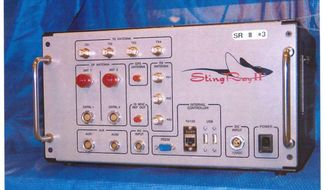 The Stingray, manufactured by Harris Corp. of Melbourne, Florida, is a cellular site simulator used for surveillance. (Associated Press/File)