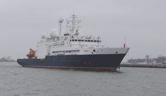 Steffan Watkins, an open-source intelligence analyst who monitors Russian ship movements, said the Russian navy sends vessels such as Yantar to the region to check on existing U.S. underwater sensors or cables that have been detected previously. The ships also search for new equipment on the sea floor that would reveal U.S. operations.